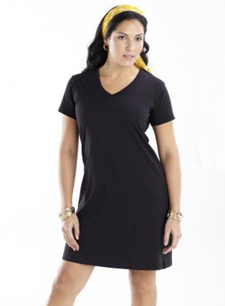 Ladies V Neck T Shirt Dress Manufacturer Name