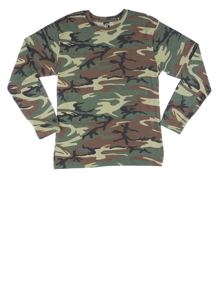 adult camo long sleeve t-shirt