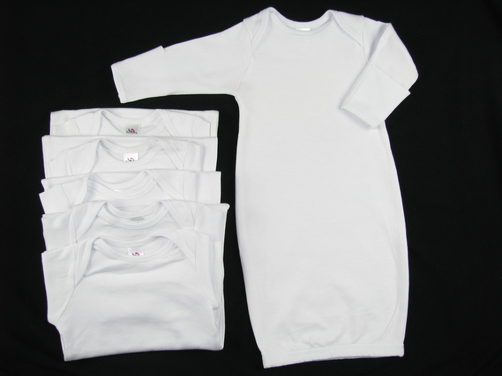 Infant Layette Gown- Wholesale Blank Clothes