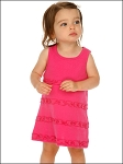 Infants A-Line Lettuce Edge Dress