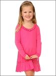 Girl 3-6X Sunflower Long Sleeve Dress