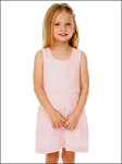 Girls 3-6X A-Line Lettuce Edge Ruffles Scoop Neck Sleeveless Dress