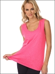 Women 2XL Slub Jersey Scoop Neck Tank