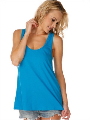 Sheer Jersey Scoop Neck Flowy Tank