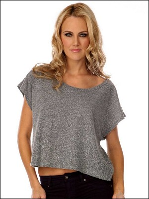 Snow Jersey Scoop Neck Boxy Tee Silicon Wash