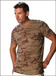 Guys Heather Camouflage Short Sleeve Muscle Tee Slcn Wsh
