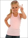 Girls 3-6X Sheer Jersey Racer Back Tank