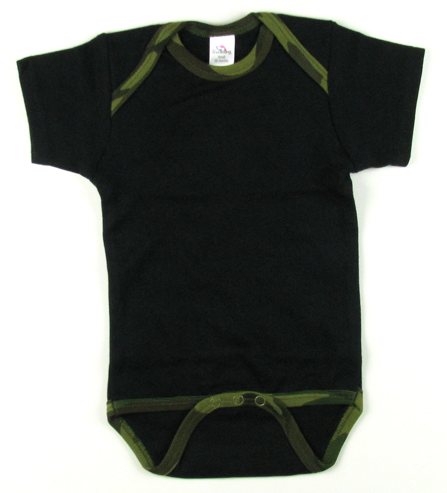 260420a23a297 Home > Baby Clothes > Creepers > SALE!! Short Sleeved Ringer Creeper  CLOSEOUT