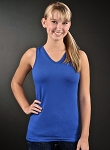 Junior V Neck Racer Back Tank