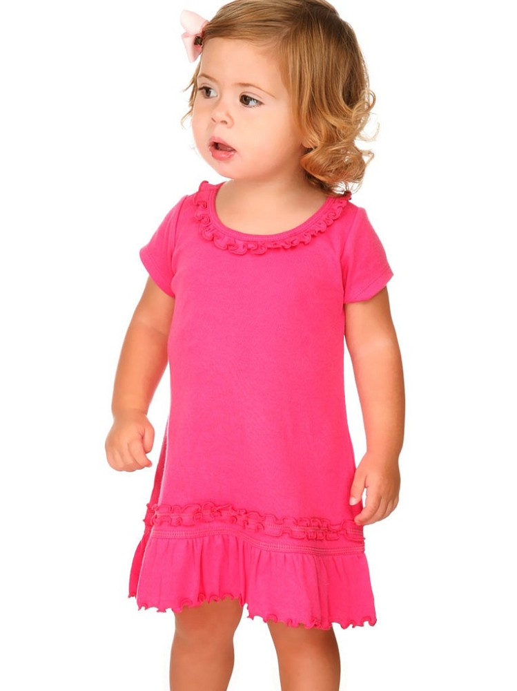 Infants Sunflower Short Sleeve Dress Wholesale Blank Clothes