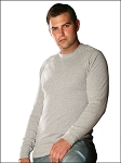Guys Muscle Raglan Long Sleeve V Notch Silicon Wash