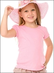 Girls 3-6X Scoop Neck Puff Sleeve