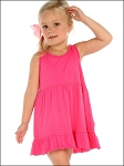 Girls 3-6X Double Raw Edge Tiered Tank Dress