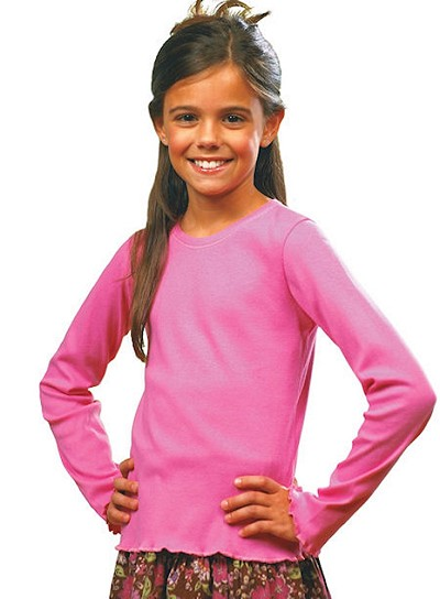 Girls Long Sleeve Tiny Tee