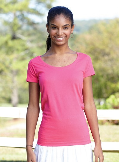Jr Deep Scoop Longer Length T