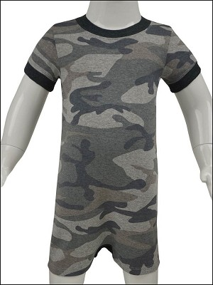 Infants Heather Camouflage Short Sleeve Romper