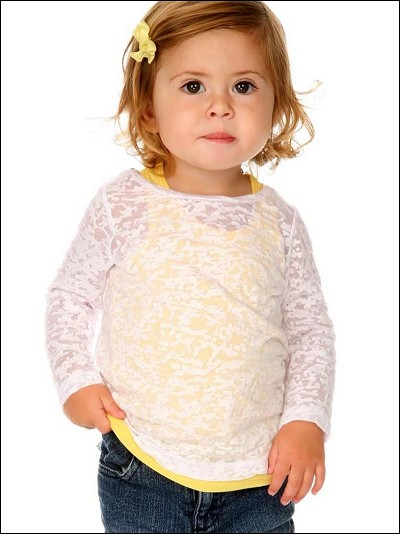 Infants Burnout Twisted Crew Neck Long Sleeve