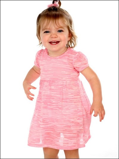 Camouflage Striped Burnout Baby Doll Dress