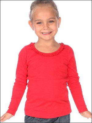 Girls 3-6X Sunflower Long Sleeve Top