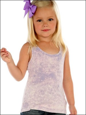 Girls 3-6X Vintage Silicon Wash Beater Tank